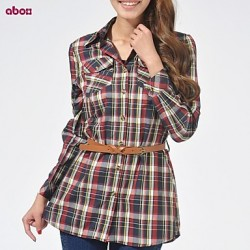 Women's Multi-color Shirt Long Sleeve