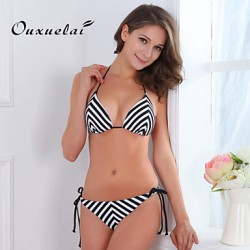 OUXL®Women Wireless Padded Bras Color Block Floral Dot Bandage Bandeau Tankinis Nylon Polyester