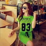 Pink Doll®Women's Round Neck Casual/Print Cute Loose T-shirt