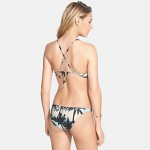 Women's Halter Tankinis , Floral Wireless Polyester Multi-color