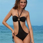 Sexy Fashion One Piece Swimsuit Australia Women's Swimwear Australia Halter Bathing Suit 396