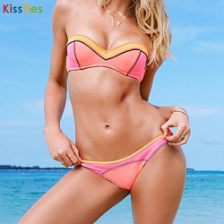 KissTies®Women's Contrast Color Sexy Beach Swimwear Australia Bikini Australia Set