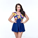 Plus Size Swimwear Swimsuits For Big Girls Fat Women One Piece Cover Belly Tankinis Skinny Swimsuits