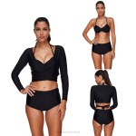 Classical Push Up Long Sleeves Two Piece Three Piece Swimwear