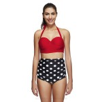 Printing Blue Dots Two Piece Swimwear