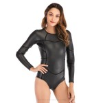2Mm Diving Suit Womens One Piece Long Sleeves Swimwear Womens Waterproof Winter Swimming Suits Diving Suit