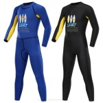 Children Sun Protective Swimwear Long Sleeves Snorkeling Suit Womens Boy One Piece Swimsuits Diving Suit