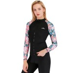 Diving Suit Womens Two Piece Long Sleeves Swimwear Womens Skinny Sun Protective Quick Drying Surf Suit Dive Skin