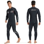Man 3Mm Wetsuit Man Two Piece Long Sleeves Cold Proof Warm Winter Swimming Diving Suit