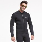 1.5Mm Diving Suit Man Two Piece Warm Wetsuit Long Sleeves Cold Proof Sun Protective Swimwear Pants