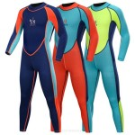 Children Sun Protective Long Sleeves Snorkeling Suit Girl Boy One Piece Swimwear Swimsuits Diving Suit