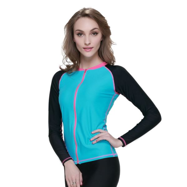 Diving Suit Womens Two Piece Long Sleeves Wetsuit Womens Womens Surf Suit Sun Protective 931