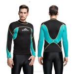 2Mm Warm Sun Protective Wetsuit Man Snorkeling Suit Top T Surfing Warm Cold Proof Winter Swimming Two Piece Swimwear