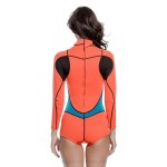 2Mm Rubber Diving Suit Womens Warm Winter Swimming Long Sleeves One Piece Swimwear Thicken Jellyfish Suit Neoprene
