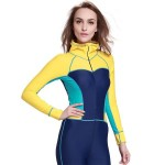 Diving Suit One Piece Womens Long Sleeves Wetsuit Dive Skin Surf Suit Sun Protective Swimwear Quick Drying