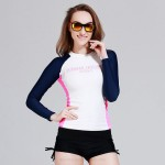 Man Womens Dive Skin Long Sleeves Two Piece Swimsuits Sun Protective Quick Drying Surf Suit