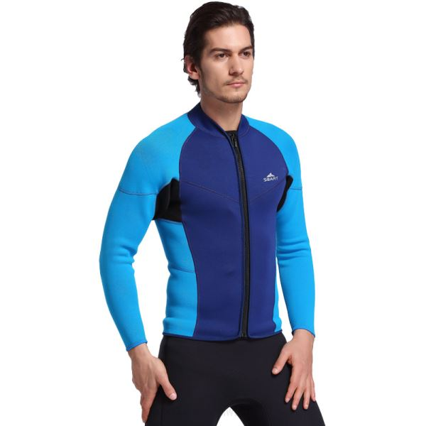 3Mm Snorkeling Suit Surfing Dive Skin Two Piece Diving Suit Man Long Sleeves Top Warm Swimwear
