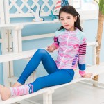 Children Sun Protective Swimwear Long Sleeves Long Pants One Piece Quick Drying Girl Diving Suit Swimsuits Spa Swimsuits