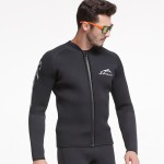 3Mm Thicken Diving Suit Two Piece Dive Skin Long Sleeves Surfing Equipment