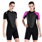 Diving Suit Womens Long Sleeves One Piece 2Mm Thicken Warm Swimwear Surf Suit