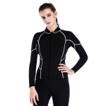 2Mm Two Piece Diving Suit Swimwear Women Skinny Long Sleeves Sun Protective Surf Suit Thicken Warm Snorkeling Suit