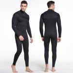 3Mm Diving Suit Thicken Warm Cold Proof Winter Swimwear One Piece Long Sleeves Surf Suit Man
