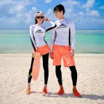 Diving Suit Womens Two Piece Sun Protective Long Sleeves Skinny Quick Drying Dive Skin Surf Suit Couples