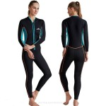 Couples Sun Protective Clothing Long Sleeves 3Mm Thicken Warm One Piece Swimwear Surf Suit Dive Skin Diving Suit