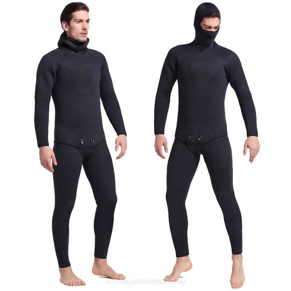 5Mm Warm Cold Proof Snorkeling Suit Man Long Sleeves One Piece Surfing Wetsuit