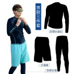 Diving Suit Two Piece Couples Dive Skin Surfing Snorkeling Suit Man Sun Protective Swimwear Long Sleeves Long Pants