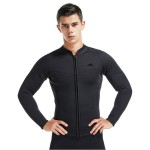 3Mm Man Two Piece Long Sleeves Wetsuit Cold Proof Warm Winter Swimming Diving Suit
