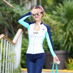 Diving Suit Two Piece Quick Drying Clothes Zipper Sun Protective Man Womens Long Sleeves Swimwear Surf Suit Couples