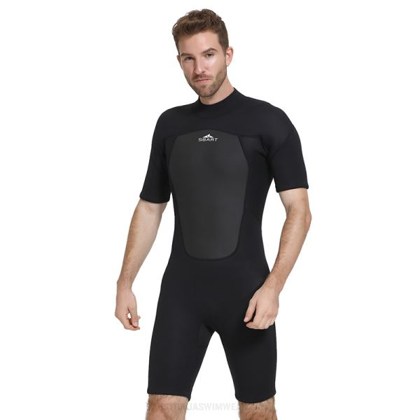 2Mm Rubber Diving Suit Warm Winter Swimming Short Sleeve One Piece Swimwear Thicken Diving Suit