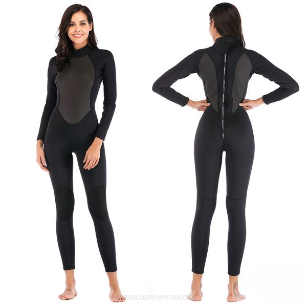 3Mm Diving Suit Womens Long Sleeves Warm Winter Swimming Surfing Winter Swimming Diving Suit