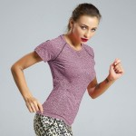 Sexy Tight Quick Drying Sport Short Sleeve Running Bodybuilding Seamless Yoga Suit Breathable T Shirt Women