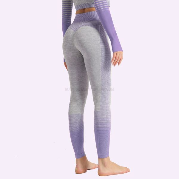 Ins Stripe Quick Drying Bodybuilding Pants Women Knitted Elastic Tight Sport Hip Lift Yoga Pants