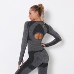 Sexy Top Women Tight Quick Drying Sport Long Sleeves Running Bodybuilding Yoga Suit Breathable T Shirt
